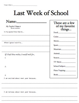 Time Capsule: First and Last Week of School Snapshots