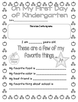 Beginning and end of the year project K-5