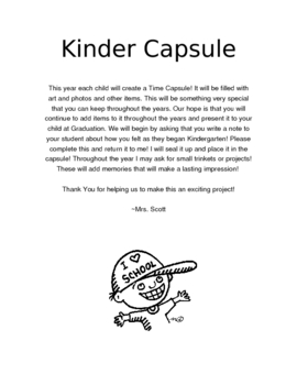 Time Capsule - Kinder Capsule