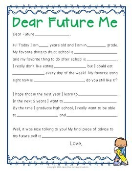 Time Capsule Letter Letter To Future Self Beginning Or