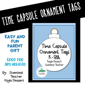 Time Capsule Ornament Tags