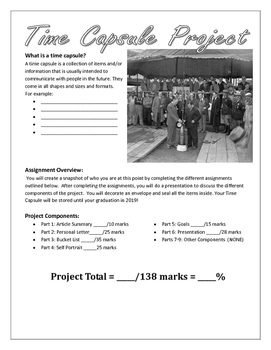 Time Capsule Project: An Introduction Project for Building Foundational Skills