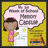 Time Capsule Scrapbook for the First Week of School