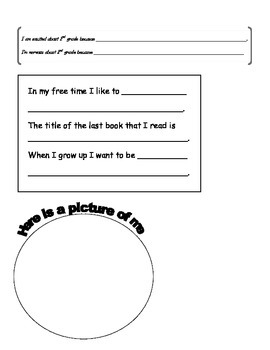 Time Capsule Worksheets