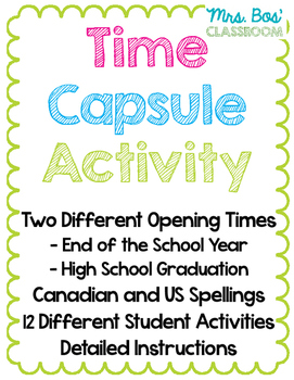 Time Capsule Writing Assignment