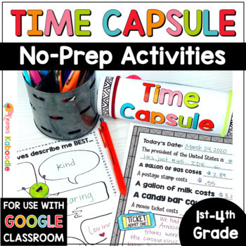 Time Capsule Writing Project | Time Capsule Distance Learning