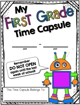 Time Capsules --- Beginning and End-of-Year Memory Book for Grades K - 3