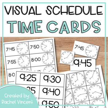 Analog & Digital Time Cards in 5 Minute Intervals {Schedules/Centers}