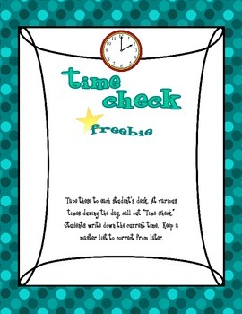 Time Check FREEBIE