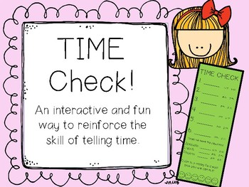 Time Check! Interactive way to assess telling time (in real time). Leveled!