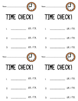 Time Check! Quick & Easy Telling Time Practice
