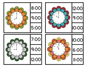 Time Clip Cards *Hour & Half Hour*