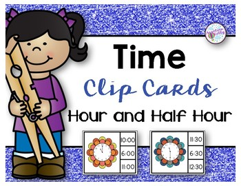 Time Clip Cards *Hour & Half Hour*
