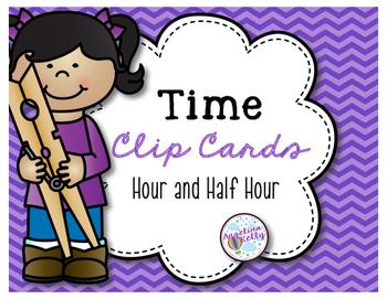Time Clip Cards: Quarter Hour