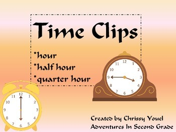 Time Clips:  Time to the Hour, Half Hour, and Quarter Hour