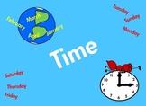 Time Clock, Days of the Week, Calendar, Months, Morning, A