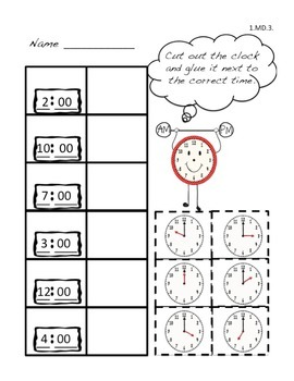 Time Common Core Math