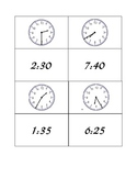 Time Concentration Five Minute Intervals Game A
