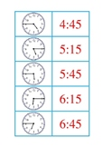 Time Concentration Half Hour, Quarter Hour, and Hour Game B