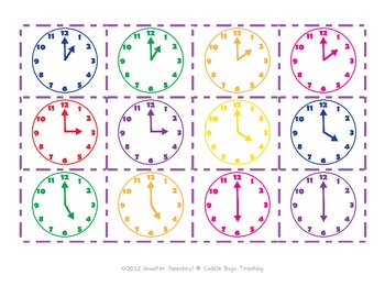 Time Concentration - Telling Time to the Hour