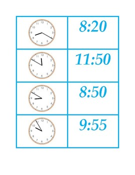 Time Concentration in Five Minute Intervals