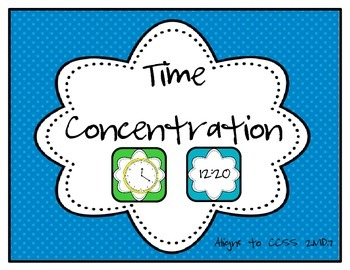Time Concentration/Memory (2.MD.7)