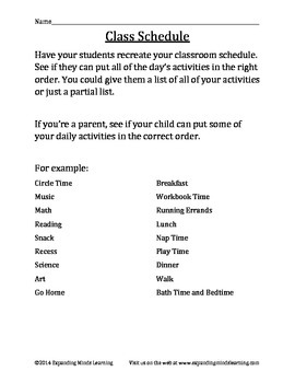 Time Concepts - 4 Activities
