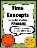 Time Concepts for Older Children FREEBIE!