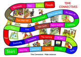 Time Connectives Game. A3 size. Make up sentences