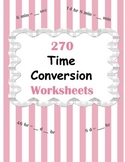 Time Conversion Worksheets