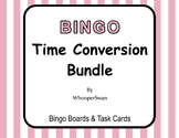 Time Conversion - BINGO and Task Cards Bundle