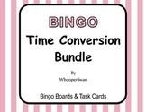 Time Conversion - BINGO and Task Cards Bundle