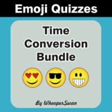 Time Conversion Emoji Quiz Bundle