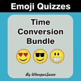 Time Conversion Emoji Quiz Bundle