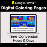 Time Conversion: Hours & Days - Digital Coloring Pages | G