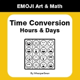 Time Conversion: Hours & Days - Emoji Art & Math - Draw by