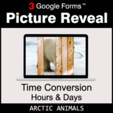 Time Conversion: Hours & Days - Google Forms Math Game | D