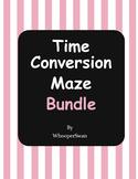 Time Conversion Maze Bundle