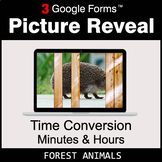 Time Conversion: Minutes & Hours - Google Forms Math Game