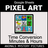 Time Conversion: Minutes & Hours - Google Sheets Pixel Art
