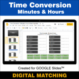 Time Conversion: Minutes & Hours - Google Slides - Distanc