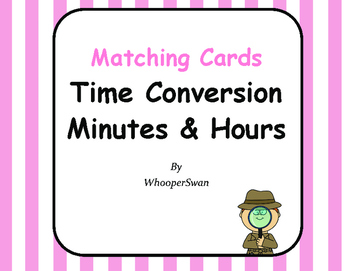 Time Conversion: Minutes & Hours - Matching Cards