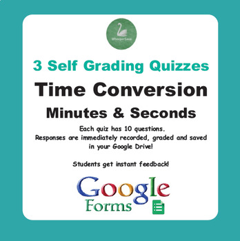 Time Conversion: Minutes & Seconds - Quiz with Google Forms