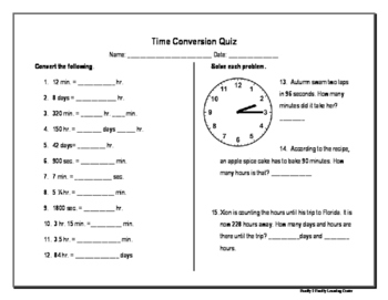 Time Conversion Quiz