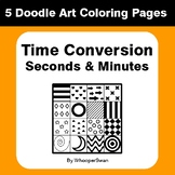 Time Conversion: Seconds & Minutes - Coloring Pages | Dood