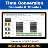 Time Conversion: Seconds & Minutes - Google Slides Distanc
