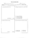 Time Conversions Quiz or Worksheet