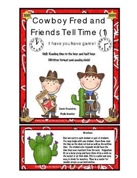 Time: Cowboy Fred & Friends Hour and Half Hour (Game 1)
