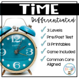 Telling Time to the 5 minutes Differentiated