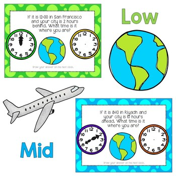 Time Differentiated Word Problem Center